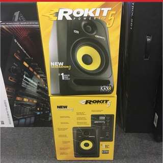KRK Rokit 5 generation 3 )1 year warranty)