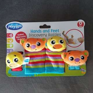 Brand new! PLAYGRO hands and feet rattle