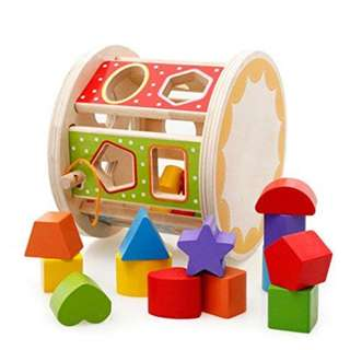 DOMI Wooden Matching Shape Educational Toddler Early Learning Toys WD5062
