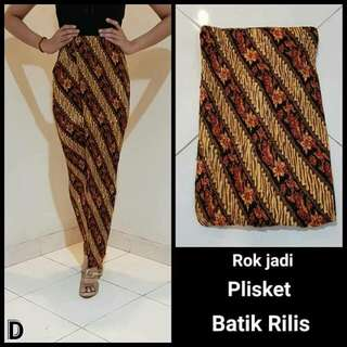 Rok Jadi Plisket Batik Rilis Part II
