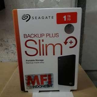Harddisk Seagate Back Up Slim 1TB HITAM Geratis Softcase