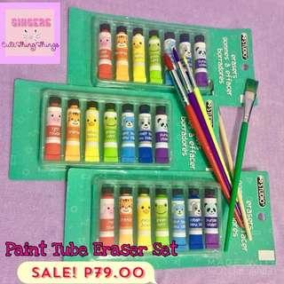 Cute Paint Tube Eraser Set