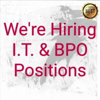 I.T.  & BPO positions - AIG Shared Services