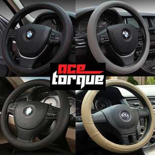 Smooth Simple Bicast Leather Steering Wheel Cover for all cars!