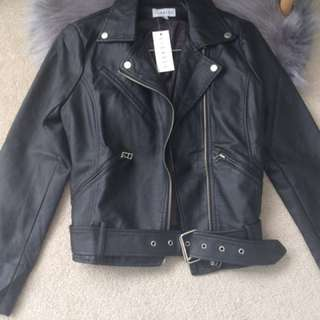 BNWT Lioness Faux Leather Moto Jacket