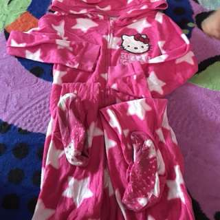 sleepsuit hello kitty kids 7y