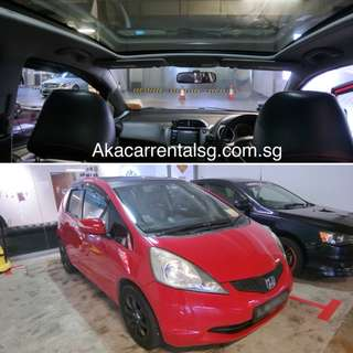 NO DEPOSIT P-PLATE Honda Fit Skyroof for rent