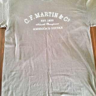 C.F. Martin Guitar Grey T-shirt ( New )