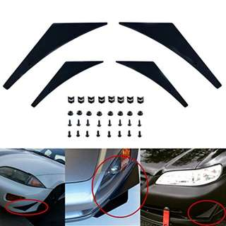 Carbon Fiber Front Bumper Fin/Lip/Splitter/Chin (1 Set)