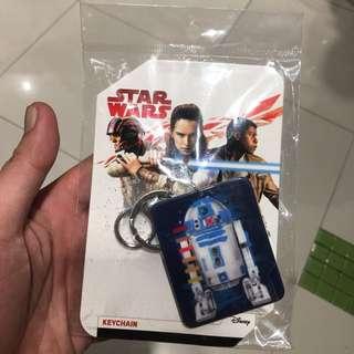 Original Star Wars Disney R2D2 Acrylic Keychain