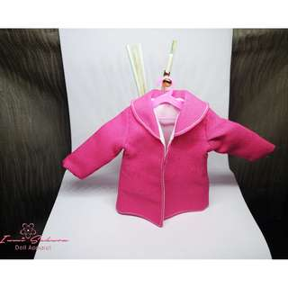 Hot Pink Round Collar Coat Barbie Coat