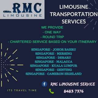 Cheapest In Town - Limousine Transport Service from Singapore to Malaysia