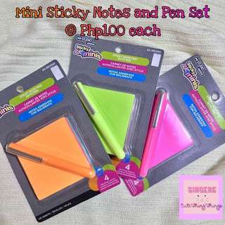 Mini Sticky Notes with Pen
