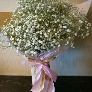 Valentine Bouquet - Baby Breath