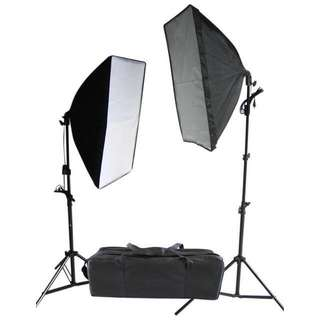 Brand wNew Continuous Studio Softbox Lighting Kit Set - Suits Video, Portrait Shoots, YouTube, Product Shoot