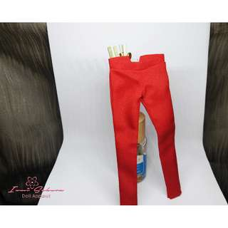 Formal Skinny Apple Red Pants Barbie Pants