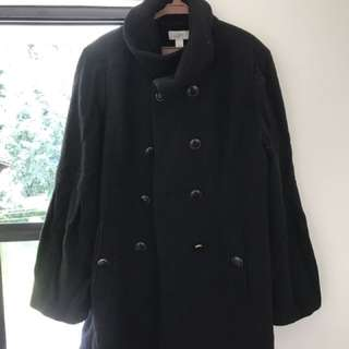 Wool winter trench coat