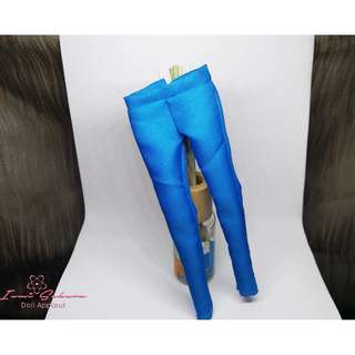 Formal Skinny Azure Blue Pants Barbie Pants