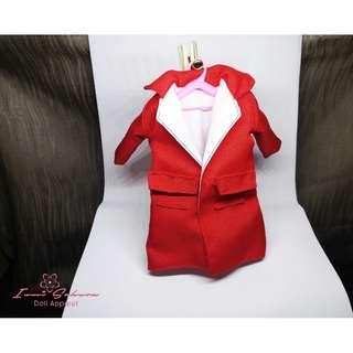 Apple Red Trench Coat Barbie Coat