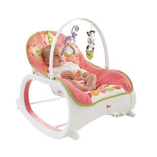 Fisher Price Infant to Toddler Rocker - floral confetti