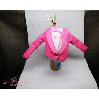 Hot Pink Chic Coat Barbie Coat
