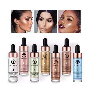 PO 2minggu Liquid highlighter makeup shimmer face illuminator bronze