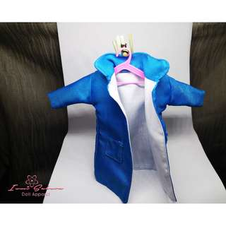 Azure Blue Trench Coat Barbie Coat