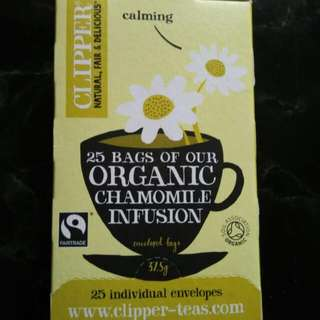 Clipper有機洋甘菊茶Organic Chamomile Infusion 25bags(全新)