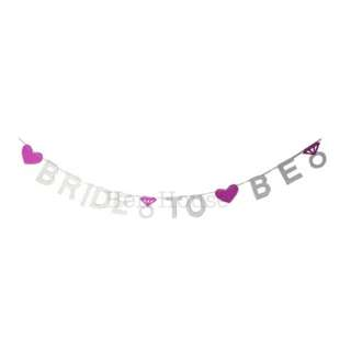 Silver Silver Bride to Be Banner