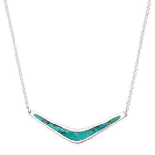 Silpada Silver Reversible Boomerang Necklace