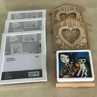 Photo Frames and Pureland Cat painting