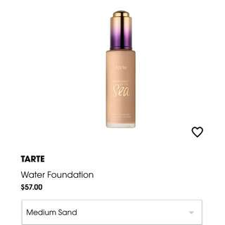 Tarte rainforest of the sea water foundation