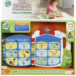 BNIB: LeapFrog Tad's Get Ready for School Book