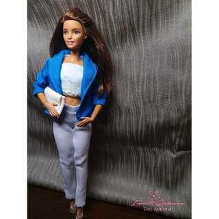 Azure Blue Office Coat Barbie Coat