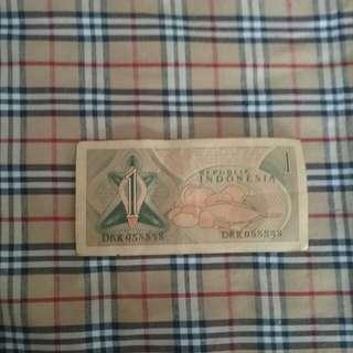 Uang kertas kuno keluaran 1961.. 1rp