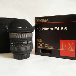Sigma 10-20mm f4-5.6 EX DC for Nikon DX