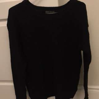 *REDUCED*F21 KNIT SWEATER BLACK