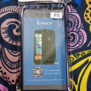 Case oppo f5 bonus tempered glass