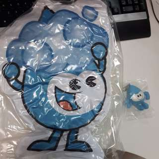 Water Wally Cushion w keychain