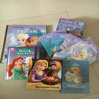 Frozen, Rapunzel and Cinderella story books