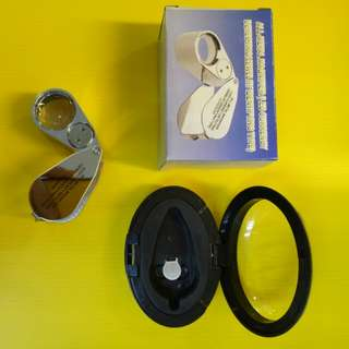ALL-METAL MAGNIFIER (LED GURRENCY  DETECTING)