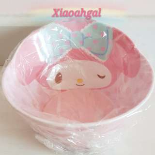 🔴50% OFF for MY FOLLOWERS ONLY!🔴🎀$26.90➡️ $13.90🎀🐰AUTHENTIC SANRIO ORIGINAL BRAND NEW IN PLASTIC🐰 JAPAN MY MELODY Face & decorative border Bowl <volume 560ml + endure 100°c> 💋See description💋 No Pet No Smoker Clean Hse
