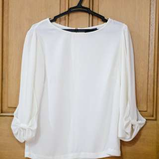 Topshop Bow Sleeve Top