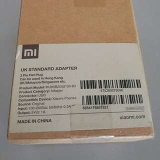 Mi Band Xiaomi original charger new sealed 5V 1A
