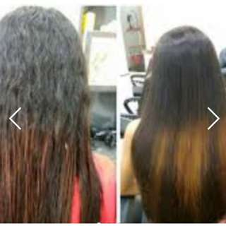 Hair Rebonding services with free treatment at $100 for all length!!! (Use Shiseido products only)