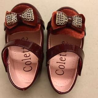 Colette red girl shoes