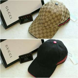 PO.3-5hari. Super quality Gucci hat. Unisex. With Box. (LIMITED STOCK). 2 Warna.