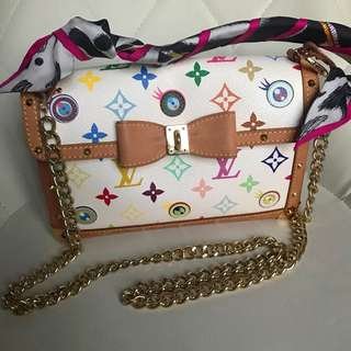 激罕全球限量1000 個 LV multicolour eye love you handbag bag clutch backpack