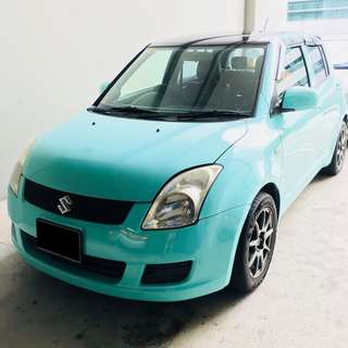 NO DEPOSIT P-PLATE TIFFANY BLUE SUZUKI SWIFT