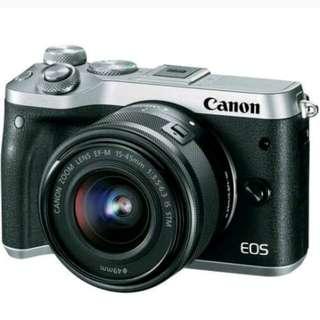 Canon EOS M6 Mirrorless 15-45mm Tanpa Kartu kredit